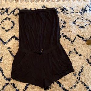 Victoria Secret black strapless romper